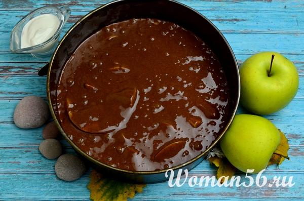 тесто для шоколадной шарлотки