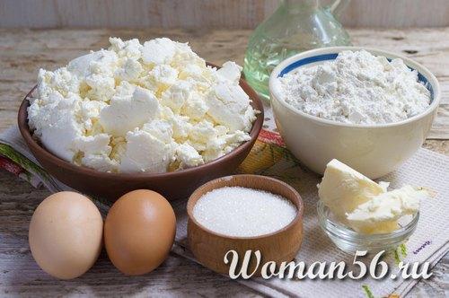 ингредиенты для сырников из творога