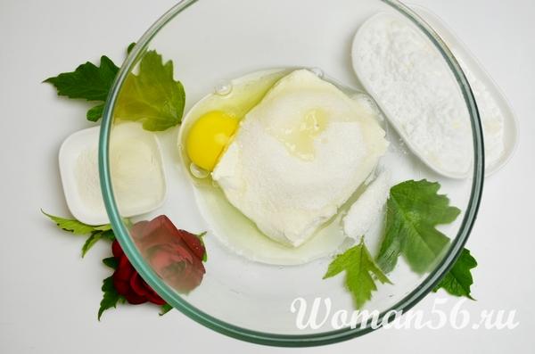творог с яйцом
