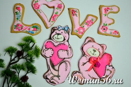 Валентинки - печенье на День святого Валентина