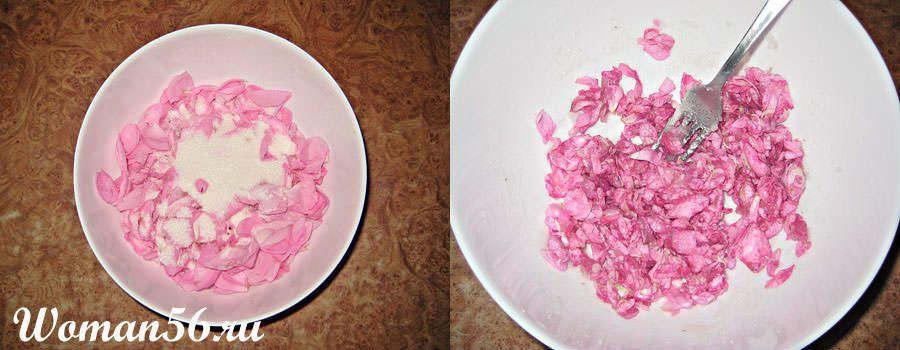 рецепт из лепестков роз