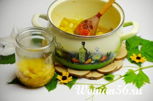 заготовка варенья из кабачков с лимоном в банки
