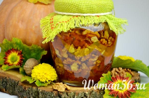 Рецепт варенья из тыквы с орехами