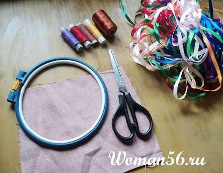 Вышивка атласными лентами - фото