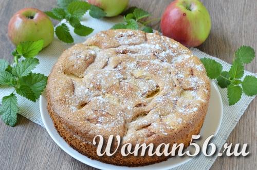 яблочная шарлотка рецепт пошагово с фото