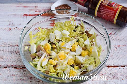 яйца для салата из пекинской капусты