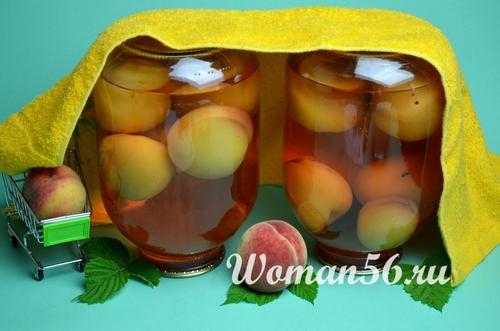 заготовка компота из персиков на зиму