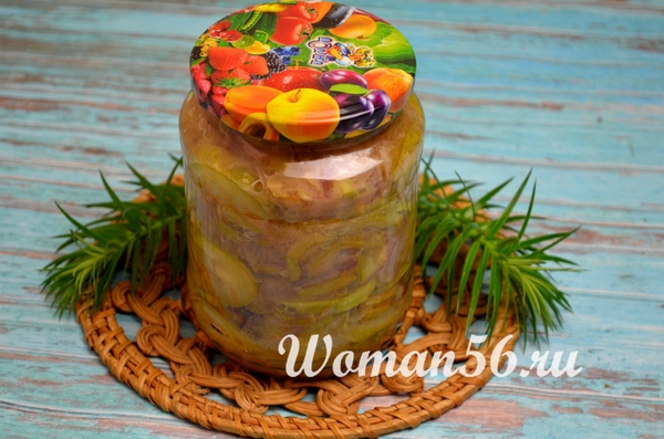 рецепт кабачкового салата на зиму
