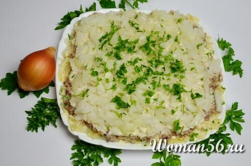 зелень для салата мимоза
