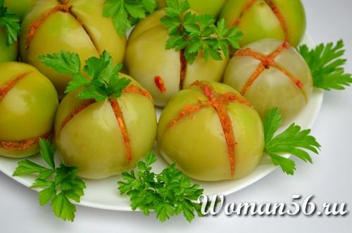 рецепт квашенных зеленых помидор